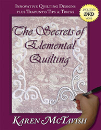 The Secrets of Elemental Quilting book cover.