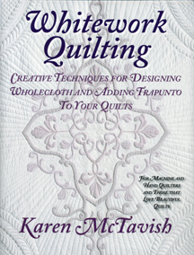 Here is Karen's book - Whitework Quilting